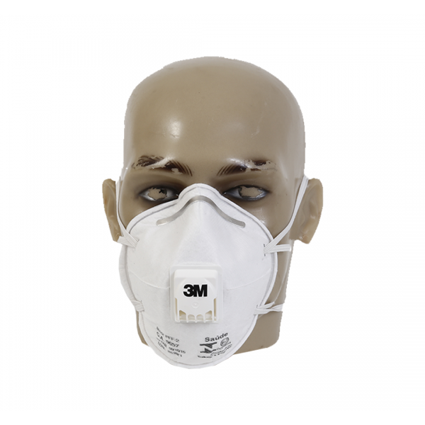 Respirador descartável concha PFF2 8822 branco com válvula - 3M
