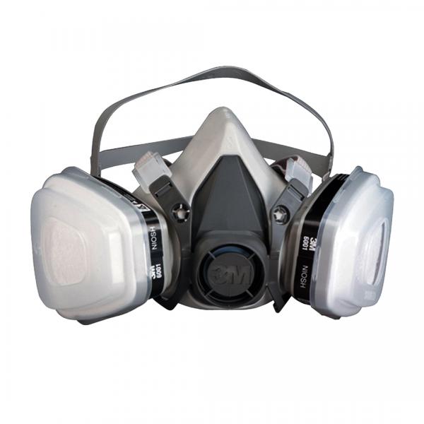 Kit respirador 6200 com filtro, retentor e cartucho 6001- 3M