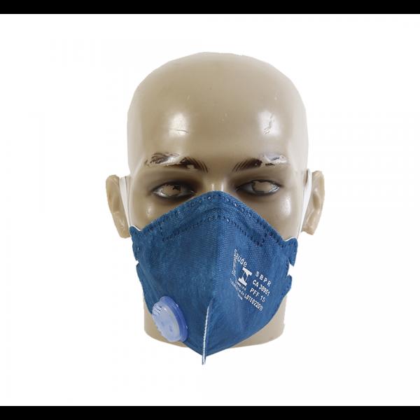 Respirador descartável PFF1 com válvula azul royal Air Safety