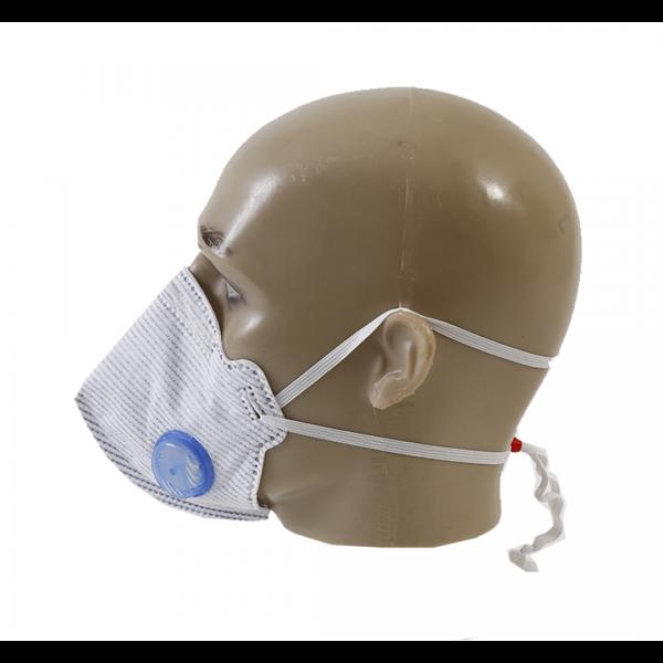 Respirador descartável PFF2 com válvula azul e branco Air Safety