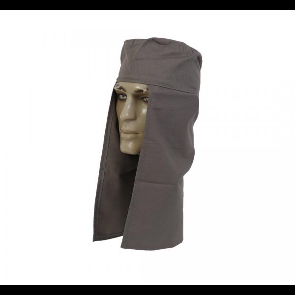 Touca soldador tecido cinza