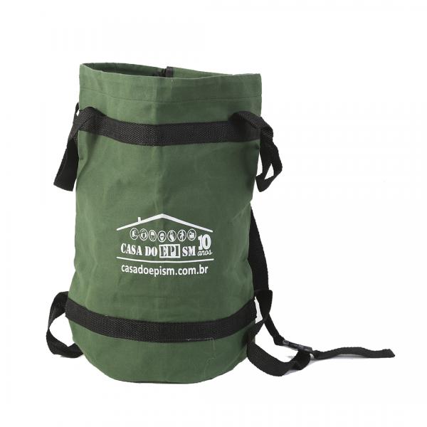 Bolsa para transporte de equipamentos com logo 20L verde