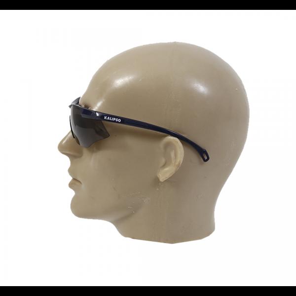 Óculos de segurança Paraty com ajuste na haste UVA/UVB Anti-Risco cinza - KALIPSO