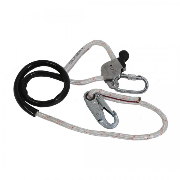 Talabarte de posicionamento de corda lisa com mosquetão e regulagem de 14mm - Mult