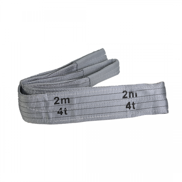 Cinta elevação de carga sling 7:1 120MM capacidade 4TON cinza 2MT - RODOCORDAS