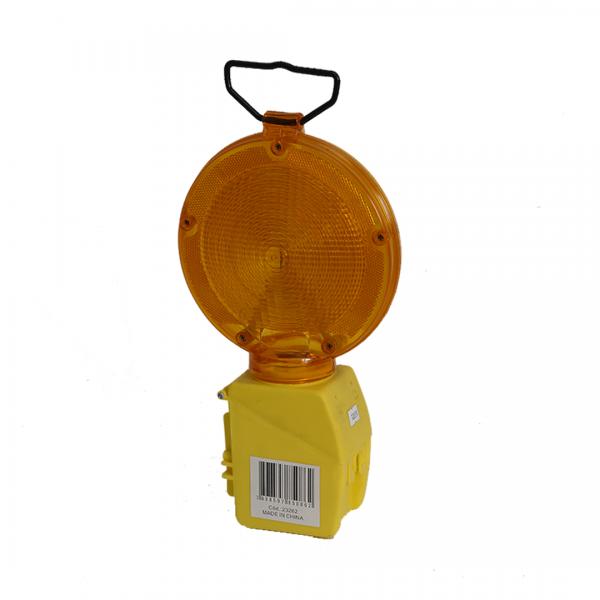Sinalizador para cone traflight com suporte com bateria