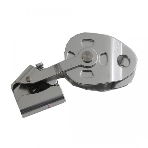 Polia simples alumínio para corda 8/13MM com trava anti retorno 25KN - BIG COMPRA