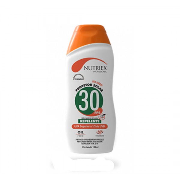 Protetor solar com repelente FPS 30 120ML - NUTRIEX