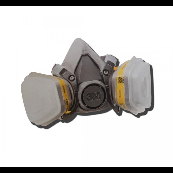 Kit respirador 6200 com filtro, retentor e cartucho 6003- 3M