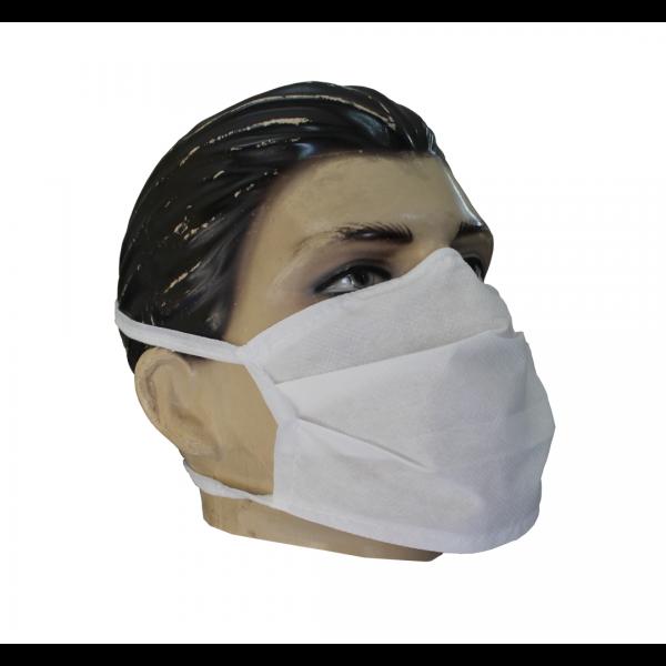 Máscara descartável TNT com tiras em pacote com 5 unidades