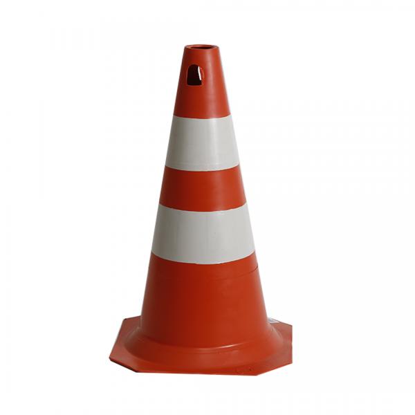 Cone PVC 50CM laranja/branco