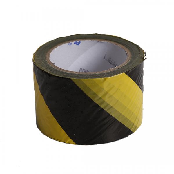 Fita de isolamento zebrada preta/amarela 200M - PLASTCOR