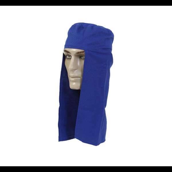Touca soldador tecido azul royal