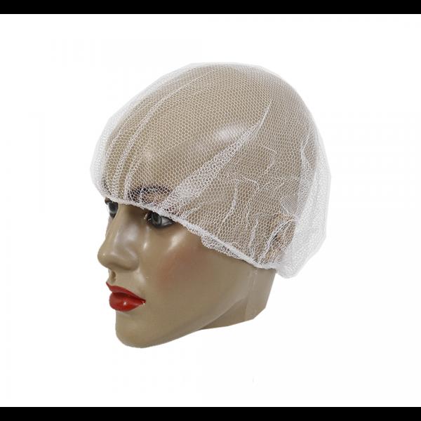 Touca rede nylon pacote com 100 branco - PREVEMAX