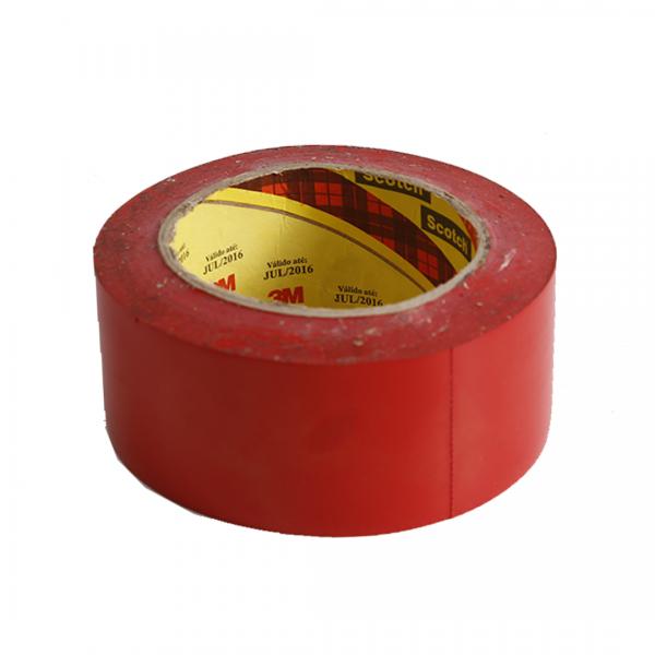 Fita de demarcação adesiva 50MM X 30M Scotch vermelho - 3M