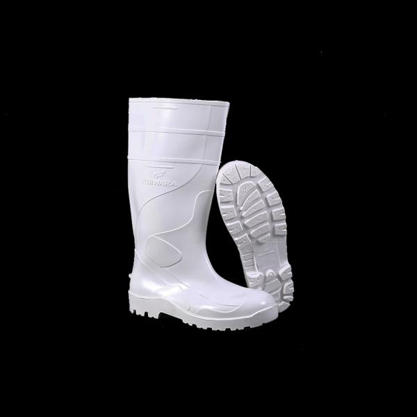 Bota PVC cano longo branca - FUJIWARA