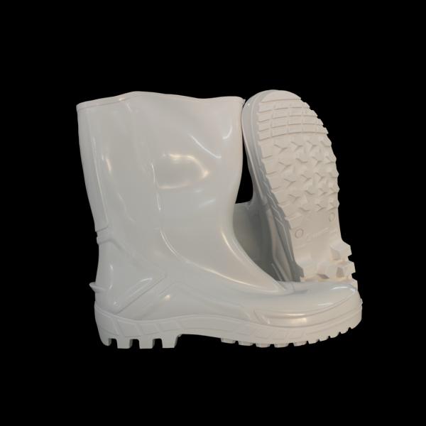 Bota PVC cano médio sem forro branca - MARLUVAS