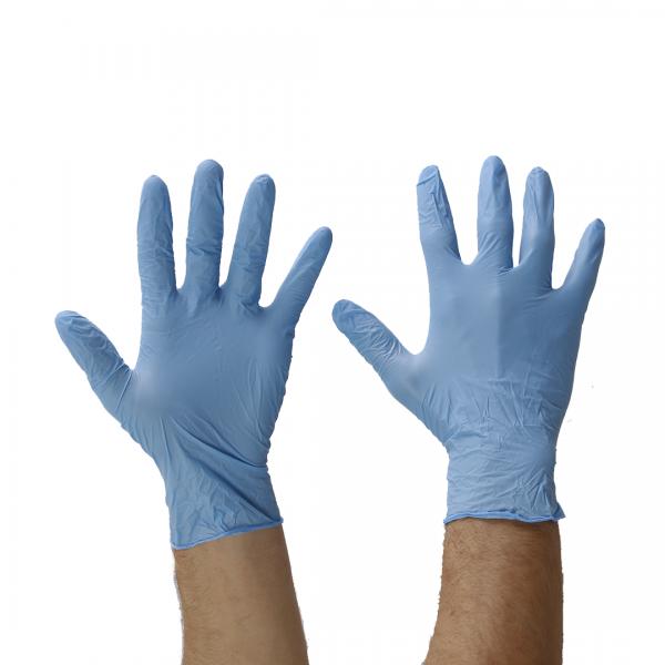 Luva descartável nitrílica sensivolk azul - VOLK